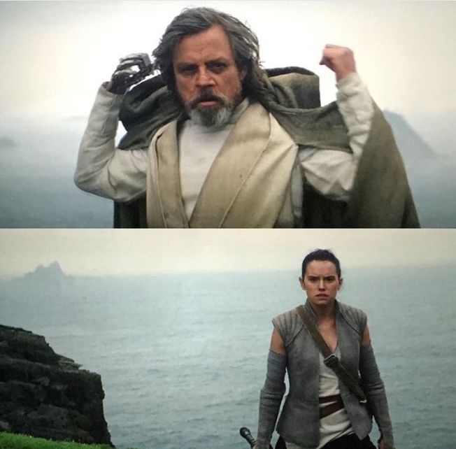 Luke and Rey in Grey